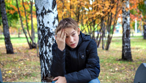 teen suffering from anxiety