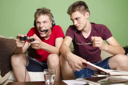 teenager gaming
